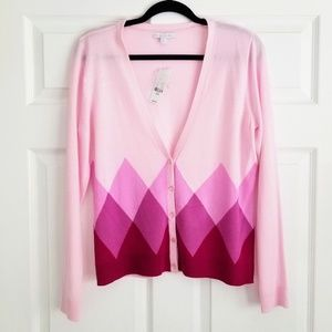 NWT New York & Company Pink Long Sleeve Cardigan